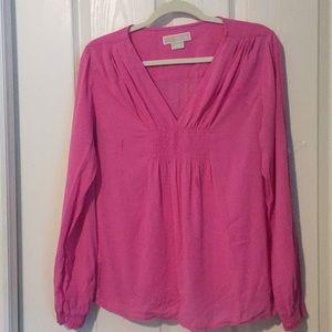 MK pink long-sleeve top